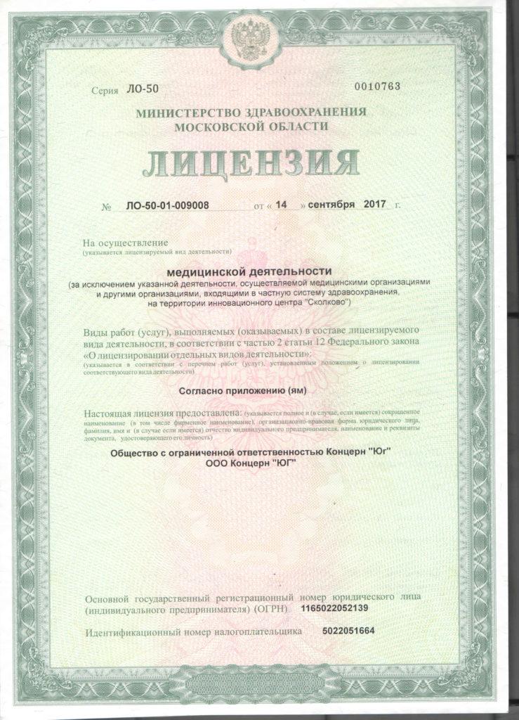 Лицензия 17